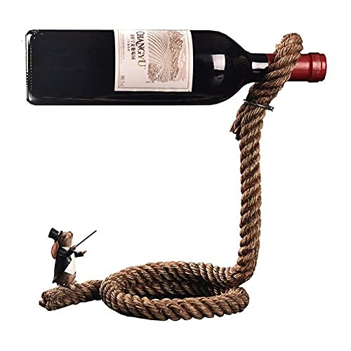 aitian Estante De Vino Casero De Cuerda De Estilo Europeo Personalizado, Estantes De Vino De Conejo Mago De Resina Creativa Accesorios Para El Hogar De Soporte De Vino Colgante En 3D, Soporte De Exhib