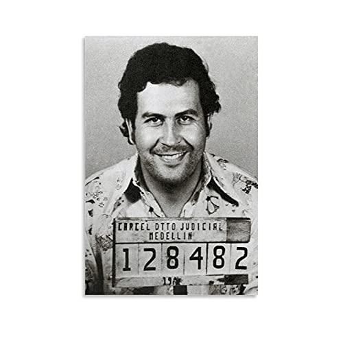 FSJD Póster de Pablo Escobar Colombian Drug Lord Pablo Escobar Cuadro decorativo Lienzo para pared de 20 x 30 cm