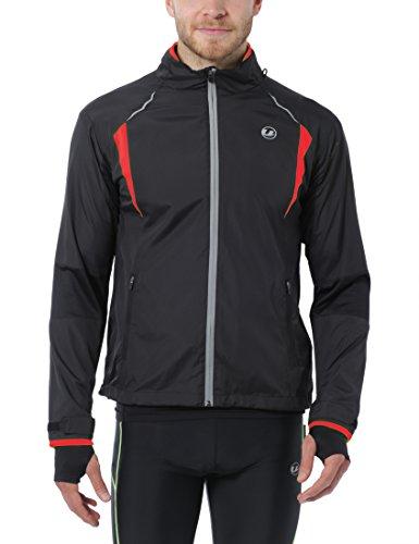Ultrasport Stretch Delight Giacca da Jogging e Bicicletta per Uomo, Nero, S