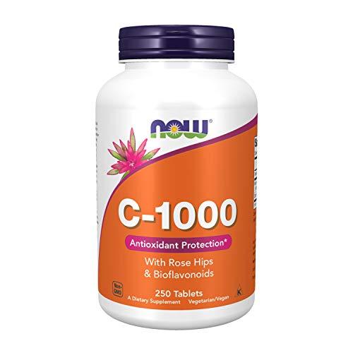 Now Foods Vitamina C-1000 con los escaramujos y bioflavonoides - 250 comprimidos 250 Unidades 460 g
