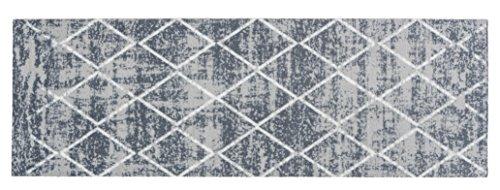 Küchenläufer Küchenmatte Dekoläufer Küchendeko für Küche Teppich Läufer Küchenteppich Küchen Teppiche Kitchen Mat waschbare Matten Flur Diele Vintage Design Größe 50 x 150 cm - Grau