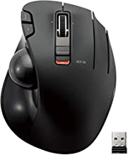 ELECOM 2.4GHz Wireless Thumb-Operated Trackball Mouse,5-Button Function with Smooth Tracking, Precision Optical Gaming Sensor Mouse (M-XT2DRBK)