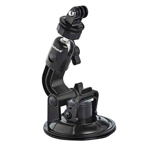 Mantona Saugnapfhalterung 1-Bein Grösse XL (9cm Saugnapf, für GoPro Hero 6 5 4 3+ 3 2 1, Session und andere kompatible Action Cams)
