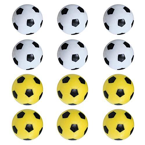 Tischfußball Kickerbälle Perfekt für Tischfußball & Tischkicker Profi Tischkickerbälle 36mm Schwarz Weiß Gelb 14 Stück