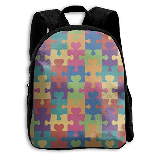 jenny-shop Autism Awareness Puzzle Kinderrucksäcke für Jungen und Mädchen Vorschulrucksack Schultasche