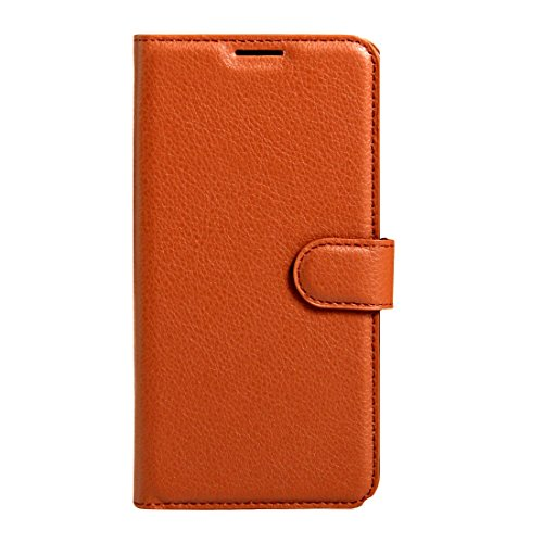 A+Xu Jie For Wileyfox Swift Litchi Texture Horizontal Flip Leather Case with Magnetic Buckle & Holder & Card Slots & Wallet(Black) (Color : Brown)