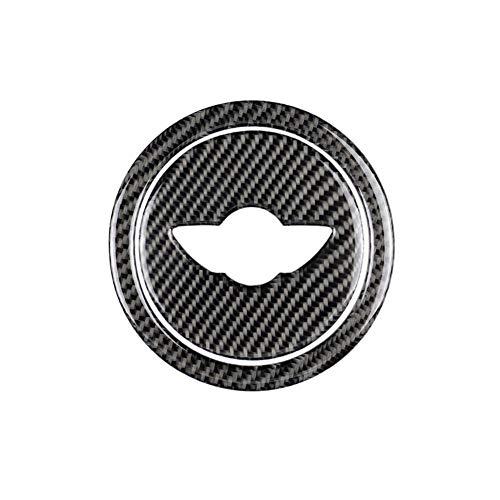 Sunnyushine - Emblema de carbono para volante de Mini Cooper R55 R56 R60 R61 para Mini Cooper R55 R56 R60 R61 carbono adhesivo para Mini Cooper R55 R56 R60 R61 carbono