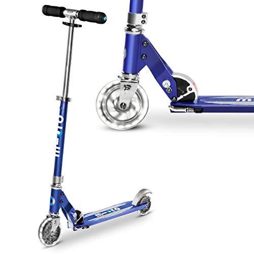 Micro Led Sprite Scooter Azul 2 Ruedas Iluminar Ruedas Niño Niña 5-12 Años