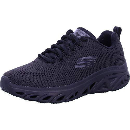 Skechers Glide-Step Sport Wave Heat Zapatillas de Deporte Comfort Running Walking Air Memory para Hombre - Negro/Negro - 46