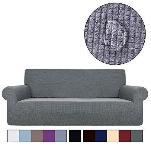 XHTANG Wasserdicht Sofabezug Sofaüberwürfe für L-Form Sofa elastische Stretch Sofabezug