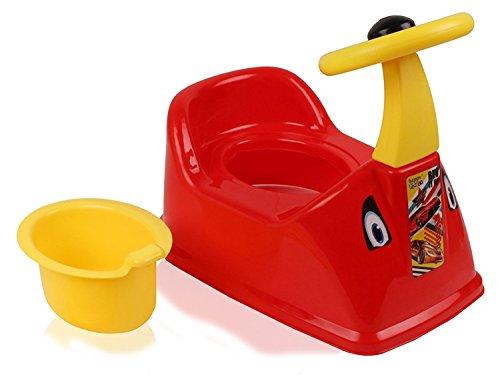La Corsa Ferrari Car Designed Baby Potty Seat with Removable Bowl (Red)