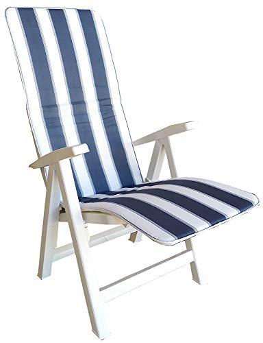 LIBEROSHOPPING.eu - LA TUA CASA IN UN CLIK Coussin rembourré pour Chaise Longue 50x154 avec Bordure (Bleu)