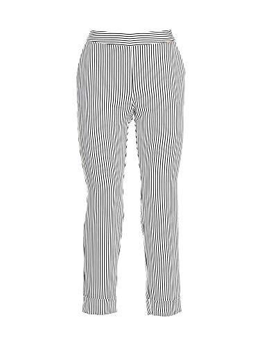 Fracomina Chino broek voor dames, gestreept, wit/zwart