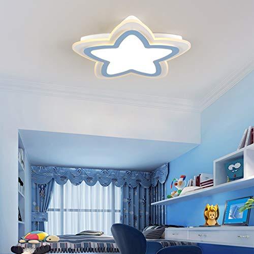WZJ-Plafón Lámpara de la habitación de los niños Lámpara de Techo LED Creativa Lámpara del Dormitorio de la Estrella Cálido y romántico...