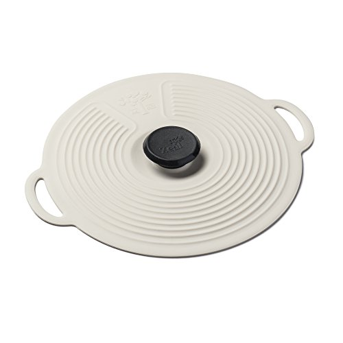 Zeal Silicone Keep Fresh Storage Airtight Seal Lid Reusable Eco-Friendly Classic Design Cream (15cm, 6')