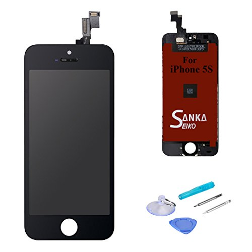 Sanka LCD Pantalla Táctil con Marco de Digitalización Asamblea Pantalla de Recambio para iPhone 5S - Negro