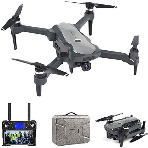 XIAOKEKE K20 Pieghevole Brushless GPS Drone con Telecamera 4K (16MP) Lente Grandangolo, 5Ghz WiFi FPV, Durata Batteria 25 Minuti, Posizionamento Flusso Ottico, Telecomando Schermo LED, Borsetta