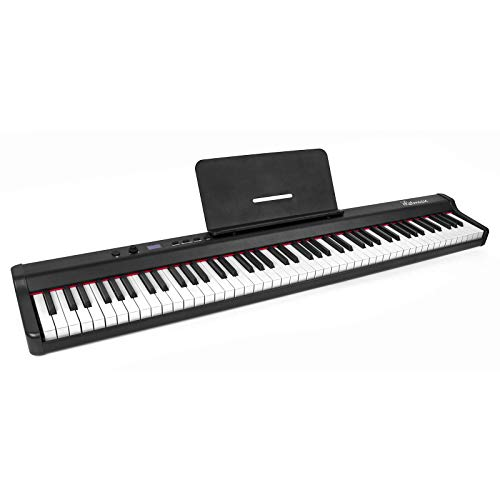 Digital Piano 88 Key Full Size Semi-Weighted Portable Electric Keyboard with Sustain Pedal Power Supply for professional/Beginner/Adults