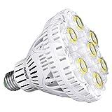 Lampadine LED E27 con Adattatore da E27 a E40, SANSI Lampada Led E27 40W (sostituisce lampadina 350W) 5000K 5500lm super luminoso CRI 80 non dimmerabile per magazzino, chiesa, officina, supermercato