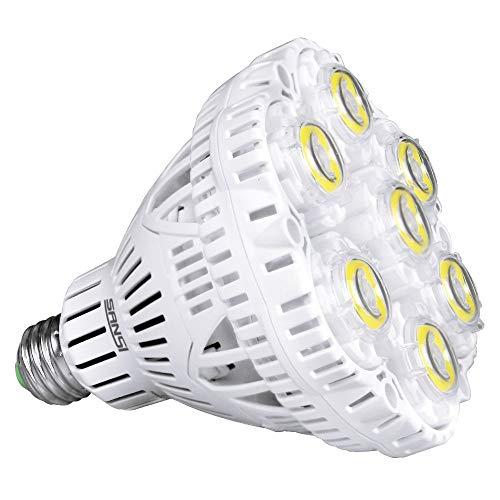 SANSI LED E27 Lampe 40W- LED Leuchtmittel (ersetzt 350W Glühbirne) mit E27 zu E40 Adapter 5000K 5500lm Super Hell Flutlicht CRI 80 LED Birne Nicht Dimmbar für Lagerhaus,Kirche,Werkstatt,Supermarkt