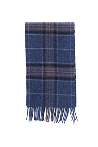 Brooks Brothers heren sjaal Schotse ruiten, blauw/bruin
