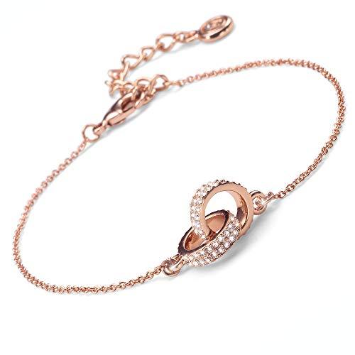 Oliver Weber Rosegold Armband • Premium Schmuck Kollektion, Armband mit Swarvoski Kristallen • Ideale Geschenkidee für Damen