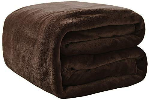 Rohi Fleece Throw Blankets Double Size - Super Soft Fluffy Faux Fur Warm Solid Cream Bed Throws for Sofa Fleece Bedspread Blanket - 150x200cm