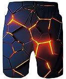 ALISISTER Bañadores Hombre Personalizado 3D Geometría Diseño Secado Rápido Pantalones Cortos Verano Surf Playa Swim Shorts XL
