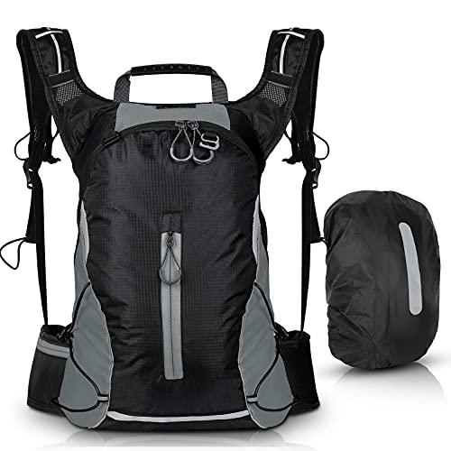 Mochila deportiva de viaje al aire libre de hidratación pack impermeable ultraligero transpirable rayas reflectantes para ciclismo jogging bag16L