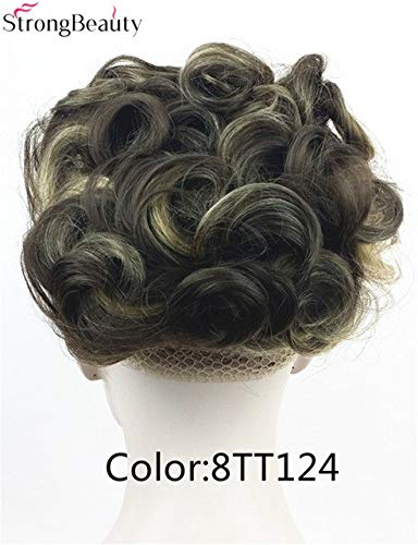 JPDP Cheveux forts synthétiques chignon cheveux peignes clip pour cheveux big bun perruque 16 couleur vert