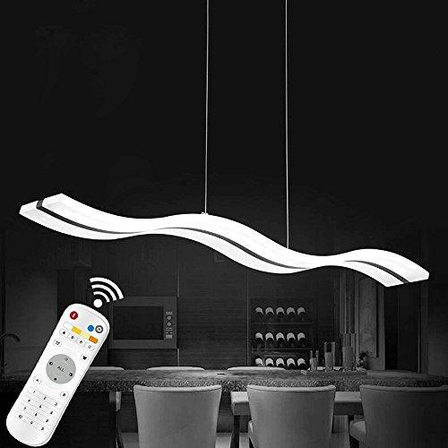 KJLARS Dimmbar Pendelleuchte Moderne Pendellampe LED Acryl Hängelampe Hängeleuchte Esstisch Wohnnzimmer Schlafzimmer