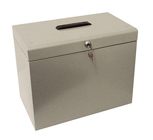 Cathedral Metal Box - Caja archivadora para fichas A4, gris