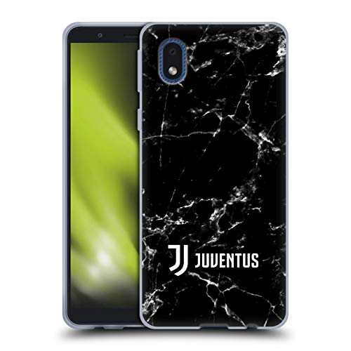 Head Case Designs Ufficiale Juventus Football Club Nero 2 Marmoreo Cover in Morbido Gel Compatibile con Samsung Galaxy A01 Core (2020)