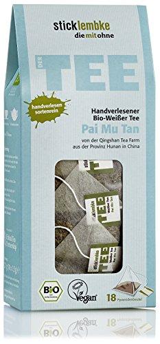 Handverlesener Weißer Tee Pai Mu Tan 18 x 1,5 g , Bio