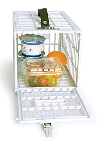 """Food Snack Lock Box to Put Away Temptations - 12"""" x 7.5"""" x 7.25"""" Fridge Locker for Keeping Your Food, Snacks or Medicine - Small Lock Box Perfect for Home and Office Use"""