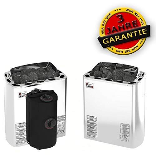 Sawo Saunaöfen Mini X Stahl - 3.0 kW, Steuereinheit: Benötigt seperaten Steuergerät