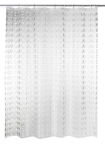 Ridder 35897S-350 Rideau de Douche Loupe avec Anneaux PEVA Transparent 180 x 200 cm