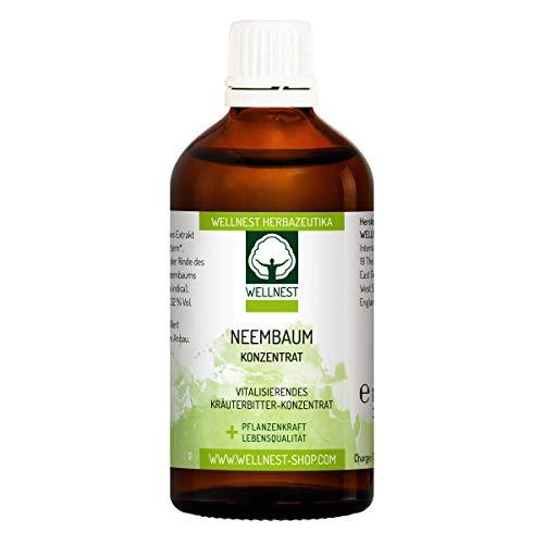 Wellnest Neembaum Konzentrat 100ml   Neem/Niembaum Tropfen   ohne künstliche Farb- oder Geschmacksstoffe - 100% natürlich und vegan   handgemacht in Deutschland