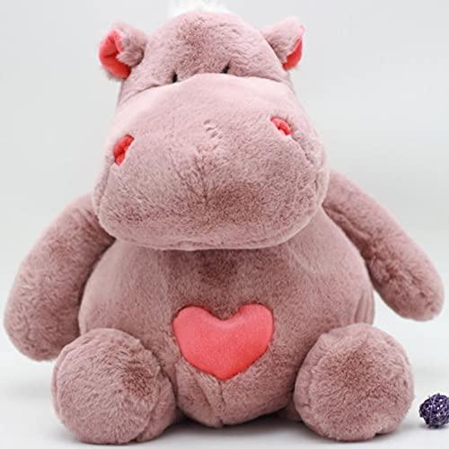 Ksydhwd Peluches 30cm Corazón Amoroso Juguete Suave Hipopótamo Muñeca Juguetes De Regalo Romántico Juguete Encantador Decoración De Habitación De Hipopótamo