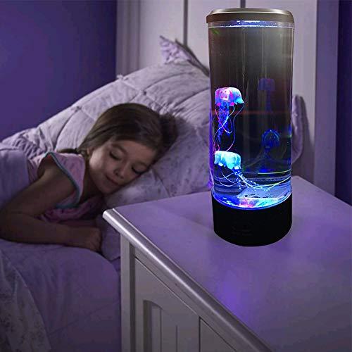 Jellyfish Luz nocturna LED, lámpara de escritorio, acuario, cambiante de color, luz de decoración, alimentada por USB, para niños, decoración del hogar o dormitorio