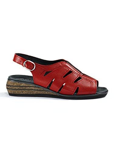 Avena Damen 125 Gramm-Sandalette Rot Gr. 42