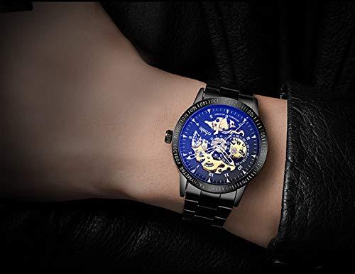 『[crbelte] 腕時計 メンズ 防水 ビジネス スケルトン 自動巻き 8ATM 日本製ムーブメント ステンレス 黒』の8枚目の画像
