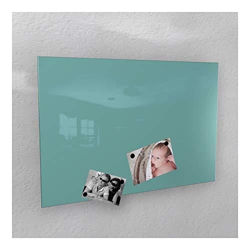 Colours-Manufaktur Magnetwand - türkis licht-grün glänzend * RAL 6027 * Hochglanz - 4 Verschiedene Größen - 40 x 60 cm ; 50 x 80 cm ; 60 x 90 cm ; 50 x 110 cm - (40 x 60 cm)