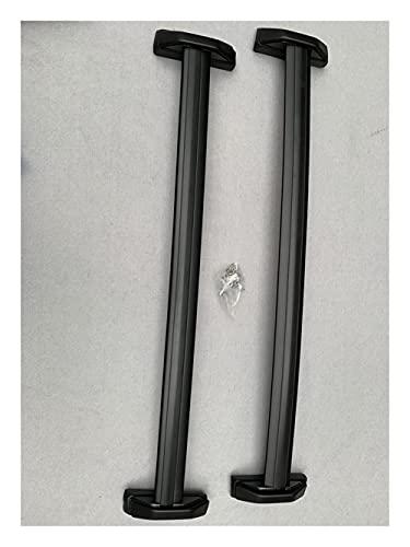 LINMAN Par OE Estilo de Aluminio Bolt-on Top Rail Roof Rack Cross Bar Carteler Carrier Reemplazo, Compatible con Honda CRV 02-06 Par de rieles Laterales Negros