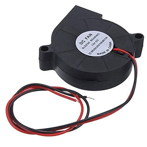 JRUIAN Accesorios de Impresora Accesorios de Impresora 3D, 12V 3Pcs Impresora 3D DC 50mm50mm Impresora de Ventilador de refrigeración Radial de soplado