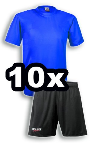DragonSport 10er Trikot-Satz Roulette Kurzarm, Größe: XL/XXL, Farbe: royal- Hose schwarz