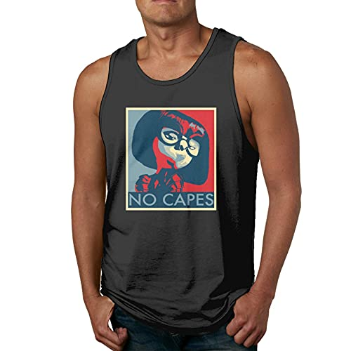 rain No Capes Man'S 3D Print Tank Tops Sleeveless T-Shirt for Gym/Running/Workout Camisetas y Tops(Large)