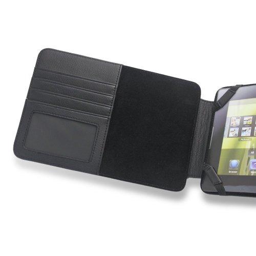 Motorola Xoom Lederen Hoesje met Slots voor visitekaartjes & papier - Zwart door KING OF FLASH