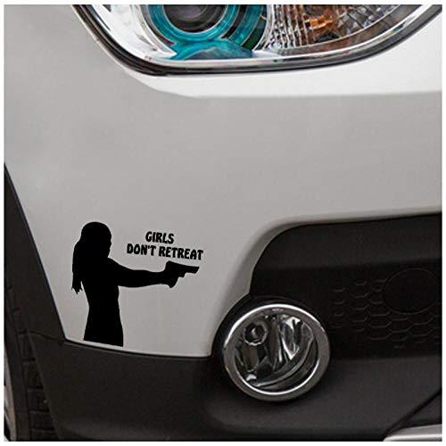 Etiqueta engomada del coche Etiqueta de vinilo de colegiala DIY para ventana parachoques portátil maleta monopatín pegatina 12x11 cm pcs 5 piezas)