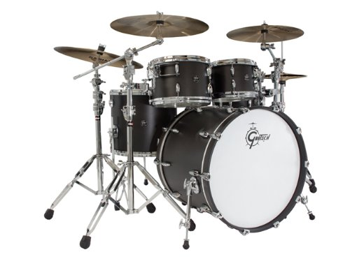 Gretsch New Renown Maple 4-Piece Euro Drum Set Shell Pack - Silver...